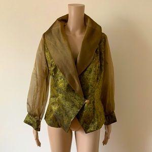 VINTAGE | Jane Devine wraparound blouse